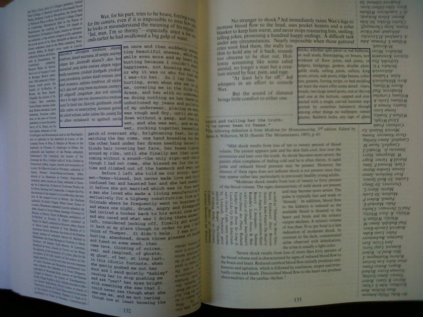 An actual page from House of Leaves
